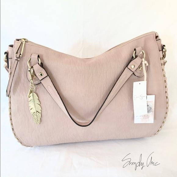 2bfc82a58236 Jessica Simpson Selena satchel Tote blush